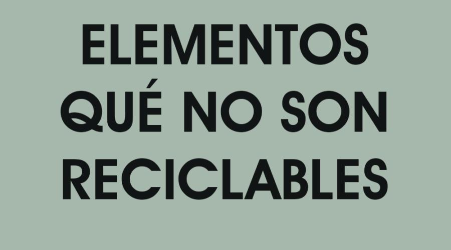 NO-RECICLABLE